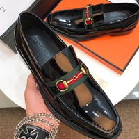 Gucci Men's Fashion Leather Casual Sneakers Shoes