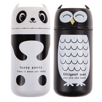 1PC  Portable Design Cute 220ml Stainless Steel Panda&Owl Thermos kids water bottle Vacuum Cup NG4S