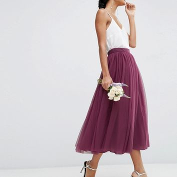 ASOS WEDDING Tulle Prom Skirt with Multi Layers at asos.com