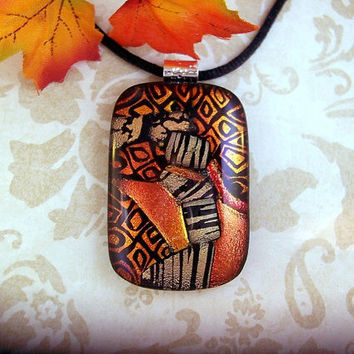 Dichroic Glass Pendant Hodgepodge Fused by SunlightGlassJewelry