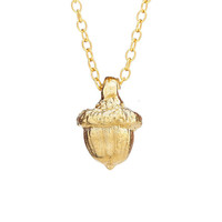 All Dreams Start Small Acorn Necklace in 18k Gold Plated Sterling Silver  *Free Shipping*
