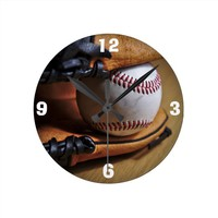 Clock: Baseball Season Round Wallclock