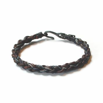 Men's Leather Braided Bracelet