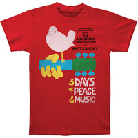 Woodstock Men's  Woodstock Poster T-shirt Red