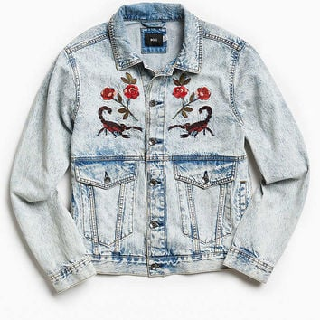 UO Souvenir Denim Trucker Jacket - Urban Outfitters