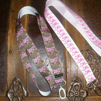 Browning Inspired Neck Lanyard--Pink Browning or Camo Browning  Inspired Ribbon