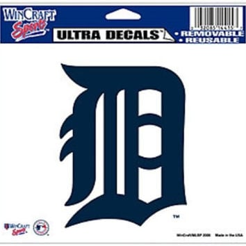 "Detroit Tigers Removable 5""x6"" Car Decal"
