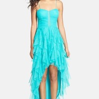 Hailey Logan Glitter Ruffle High/Low Dress (Juniors) (Online Only)
