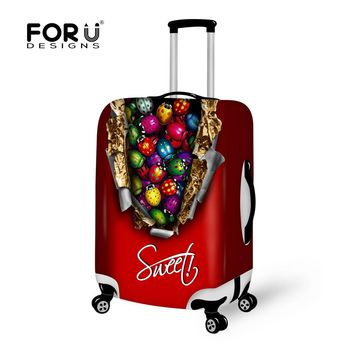 FORUDESIGNS Chocolate Travel Luggage Accessories for Suitcase Protector Cover Bags for Case,Elastic Luggage Cover for Men Women