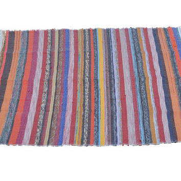 Rag Rug, Durri,Sarri, Rugs,Indian Rugs, Chinddi Rug,Hand Made Rugs,Decorative item ,Hand made rug