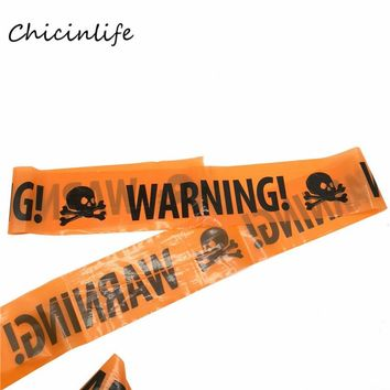 Chicinlife 1pcs Warning Caution Tape Window Garden Halloween Decoration Halloween Party Props