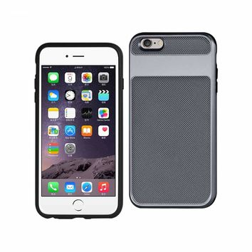New Hybrid Solid Armor Bumper Case In Gray For iPhone 6S Plus By Reiko