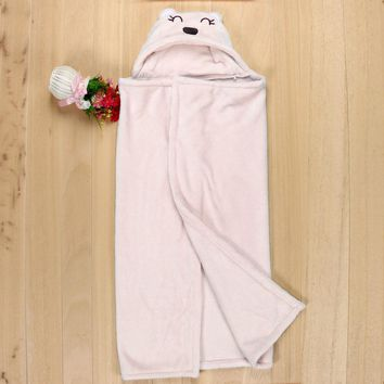 Baby Blanket Lovely Soft Baby Blanket Towels Animal Shape Hooded Bath Towel Bathrobe Clothes