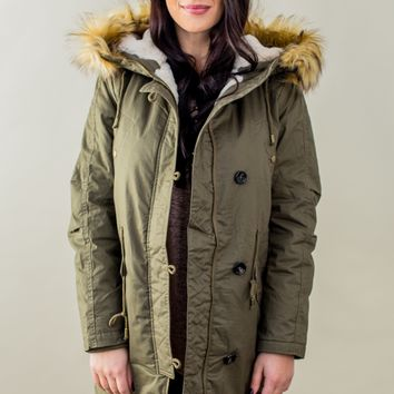 Time And Time Again Jacket- Olive