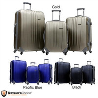 3 Piece Hard-side Expandable Spinner Luggage Set