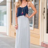 In Good Time Maxi Dress, Navy