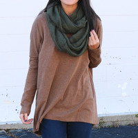 Hey Girl Basic Tunic {Latte}