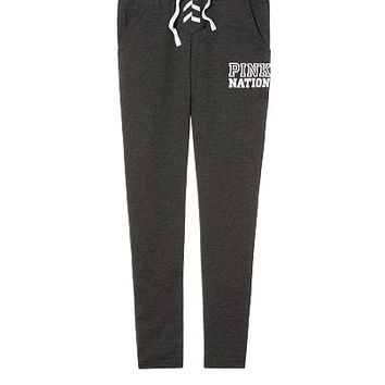 Pink Nation Lace-Up Dorm Pant - PINK - Victoria's Secret