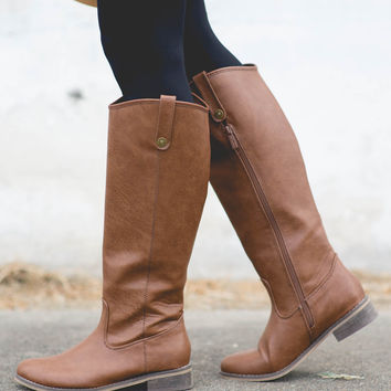 Ridin' High Riding Boot - Tan