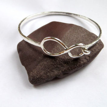 Sterling Silver Infinity Bangle Bracelet by InnershellDesigns