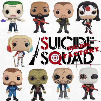 Funko POP Suicide Squad The Joker &Harley Quinn Action Figures Toy Doll
