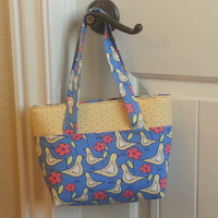 Fun in the Sun Tote- Birds with Yellow Flower