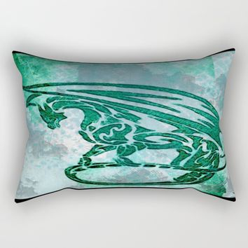 Green dragon  Rectangular Pillow by Jessica Ivy