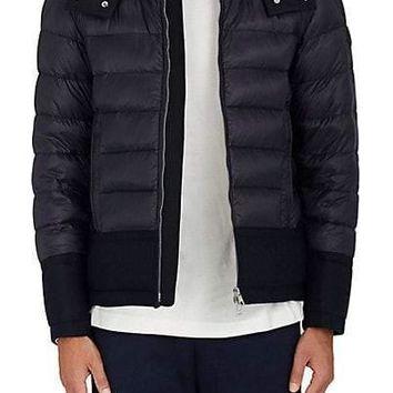 Moncler Wool-Trimmed Down-Quilted Coat