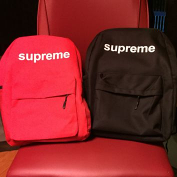 Fashion Supreme Print Canvas Backpack Travel School Bag