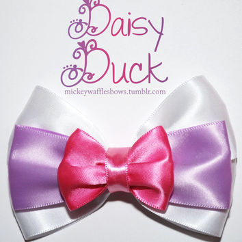 Daisy Duck Hair Bow by MickeyWaffles on Etsy