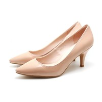 Patent Pointed Toe Pumps (Pink)