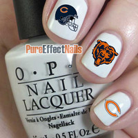 Chicago Bears Nail Decals