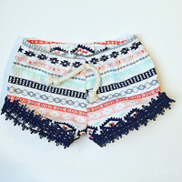 Aztec / baby girl clothes / baby clothes / baby gift / baby shorts / aztec baby clothes