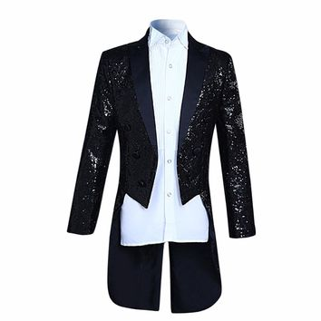 New Arrival Fashion sequins Design Stage Suit Jacket Men Cloudstyl 2017 Fashion Tuxedo Casual Slim Fit Drama costume Male Blazer