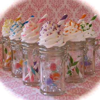 "Fake Cupcake ""Candy Land Jar Collection"" Set 6 Orig. 12 Legs Concept Perfect Wed/Birthday Favors Stocking Stuffer"