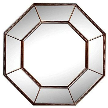 Beautiful Design Copper Octagon Wall Mirror