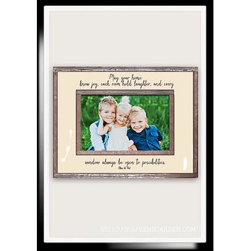 May Your Home Have Joy Copper & Glass Photo Frame