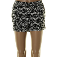 American Rag Womens Juniors Soft Short Tribal Print Pocket Casual Shorts