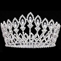 Signstek Women's Luxury Crystal Tiara Shining Rhinestone Crown for Pageant Wedding Bridal Beauty Contest Prom Party (Full Crown 1)
