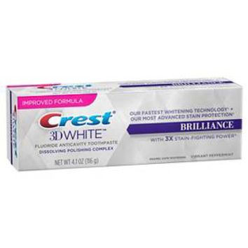 Crest 3D White Brilliance Whitening Toothpaste - Vibrant Peppermint 4.1 oz