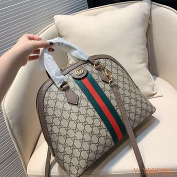 HCXX 19Oct 122 Gucci Shell Classic Fashion Chain Crossbody Handle Bowler Bag 34-26cm