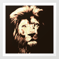 Lion Art Print by Paula Belle Flores