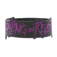 Falling In Reverse Logo Die-Cut Rubber Bracelet | Hot Topic