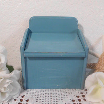 Rustic Recipe Box Aqua Turquoise Teal Blue Wood Card Organizer Wooden Hinged Lid Country Farmhouse Gift For Her Him Kitchen Home Decor