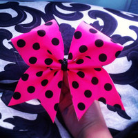 Polka Dot cheer bow