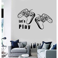 Wall Stickers Vinyl Decal Video Games Let`s Play Playstation Decor Unique Gift (z2215)