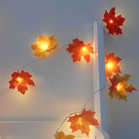 Mixed Autumn Leaves Fairy Lights / String Lights - LED Garland - Battery Operated - Orange Red Yellow Leaf - Choose 1m 2m 3m 4m 5m 10m