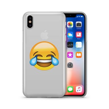 LOL Emoji - Clear TPU Case Cover Phone Case
