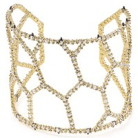 Alexis BittarElements Crystal Honeycomb Cuff