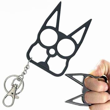 Defense Doggy Key Chain- Black